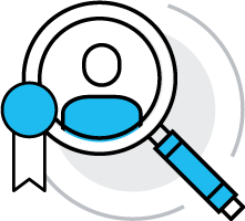 Recruiter certification training icon