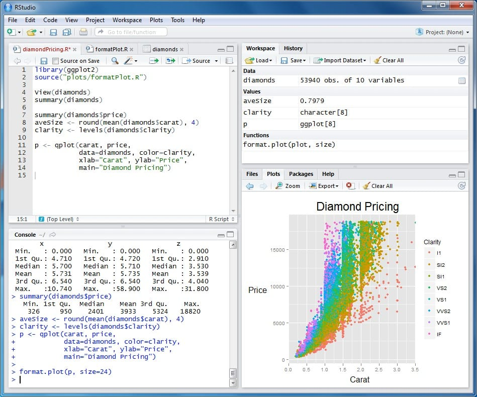RStudio overview