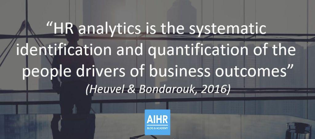 Scientific definition of HR analytics and People analytics