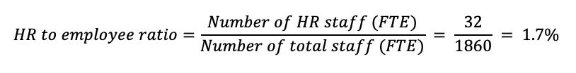 hr to employee ratio example