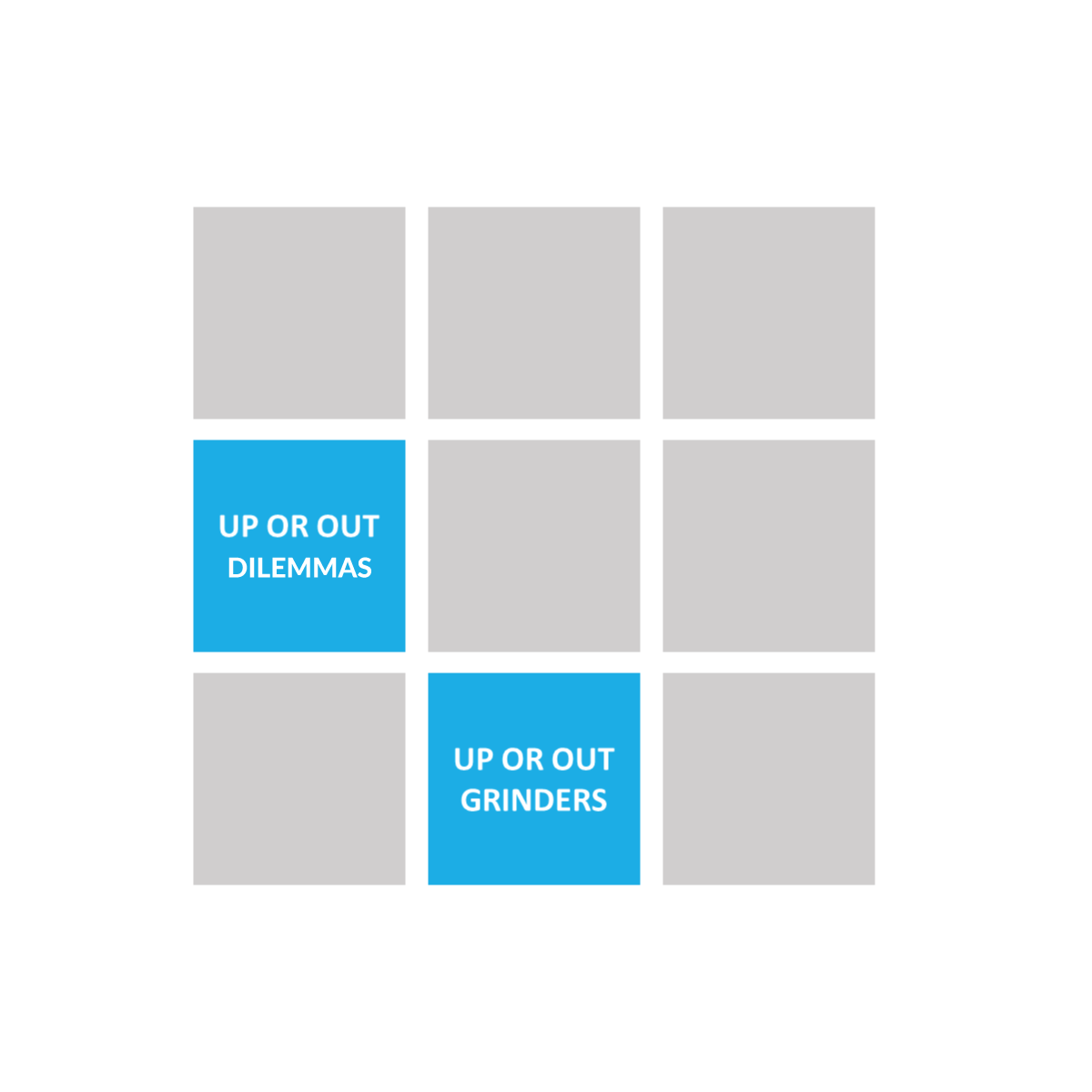 9 box grid - up or out