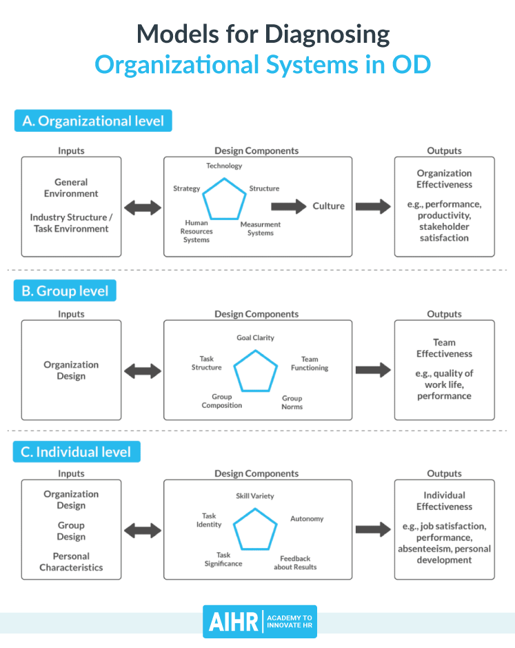 Comprehensive model for diagnosing organizational systems