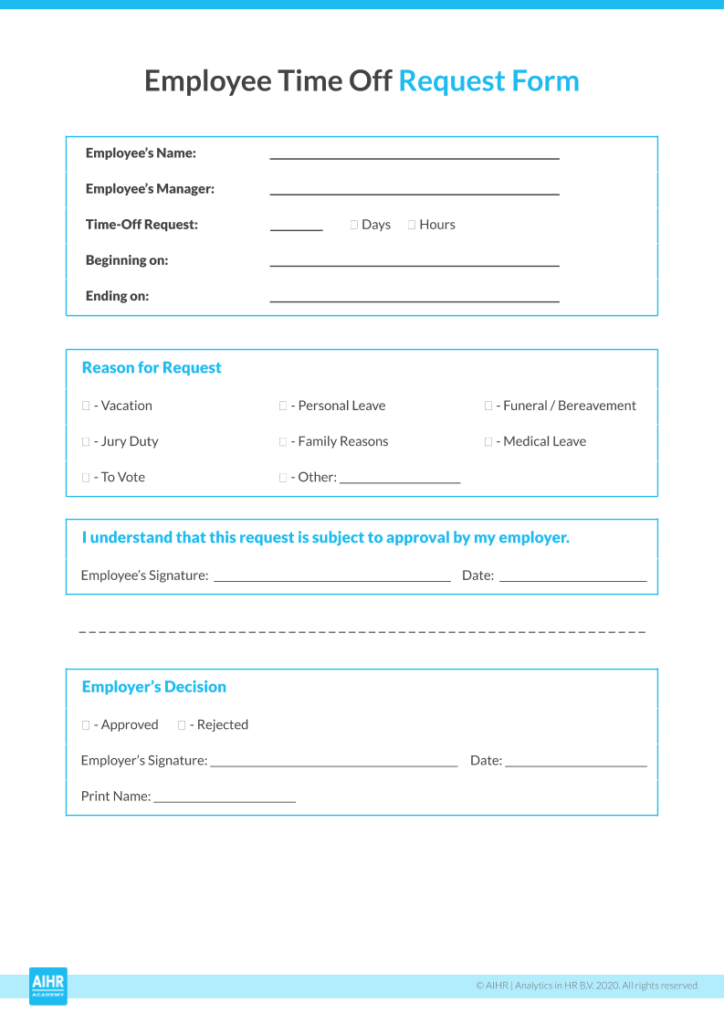 Employee Time Off Request Form