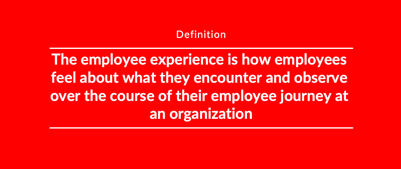 Employee experience in the employee journey
