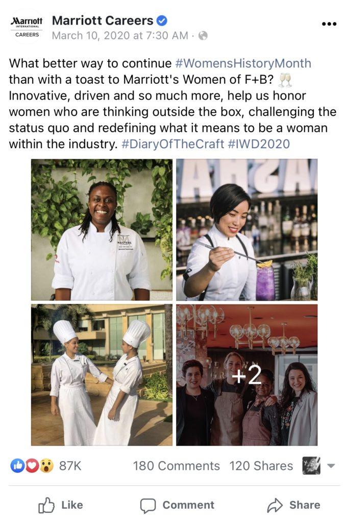 Employer branding examples - Marriott Int