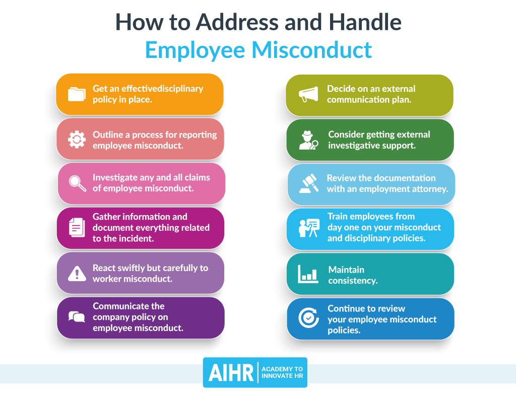 How to address and handle employee misconduct
