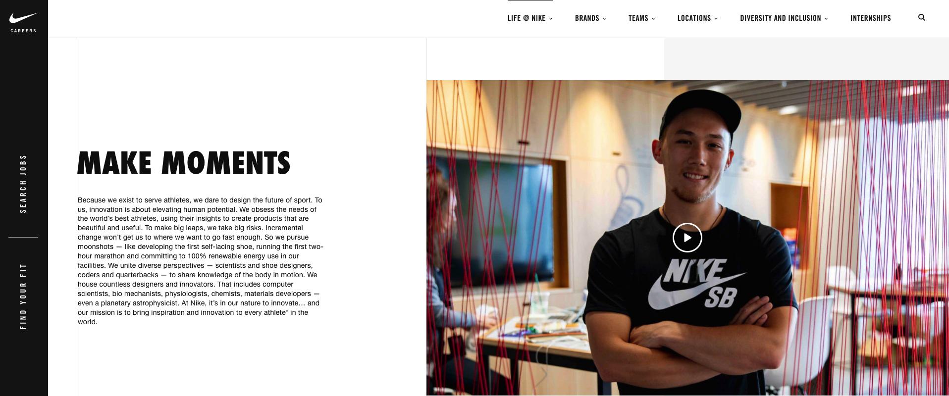 Nike Employee Testimonial