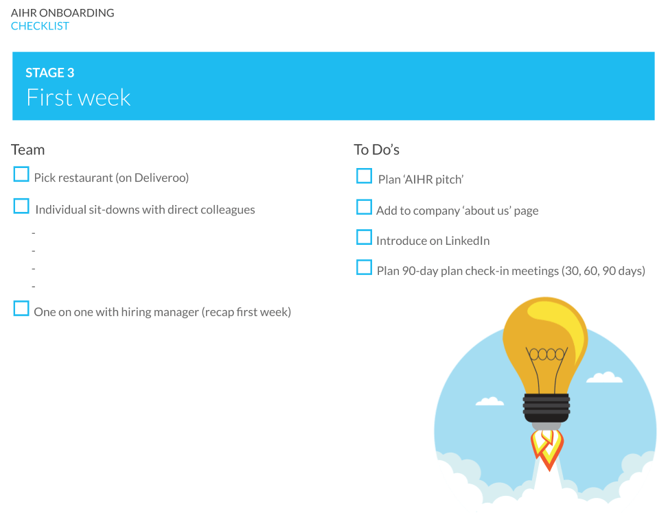 Onboarding - the first week