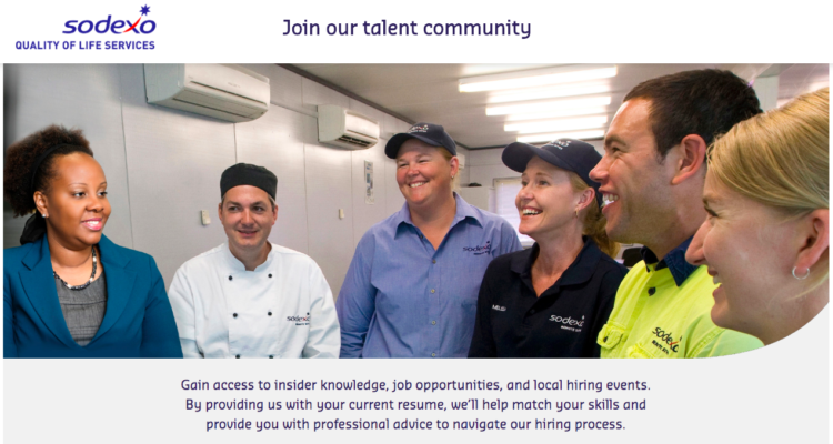 Sodexo talent pool page