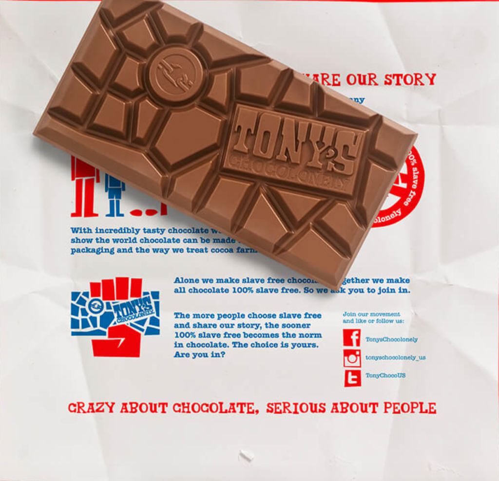 Tony's chocolonely wrapper