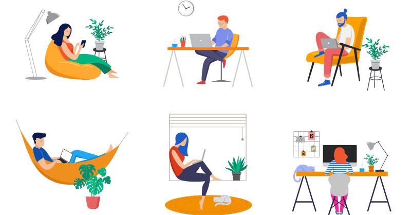 Activity-based working set-up
