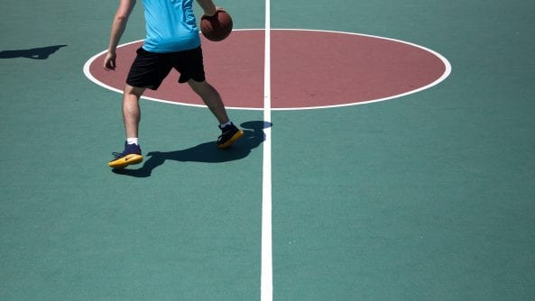 Nike has on on-campus basketball court