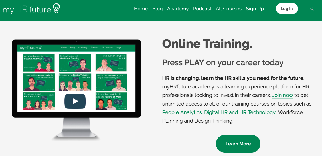 Online HR courses from myHRfuture